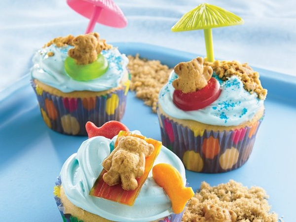 Summer Cupcakes Tiny Teddy Beach Parasol