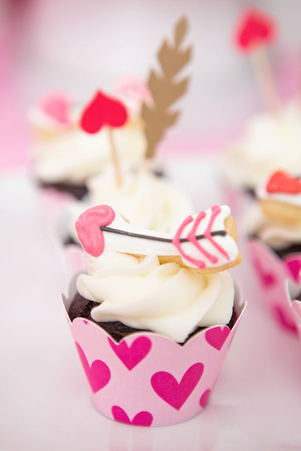 Arrow Topped Cupcake
