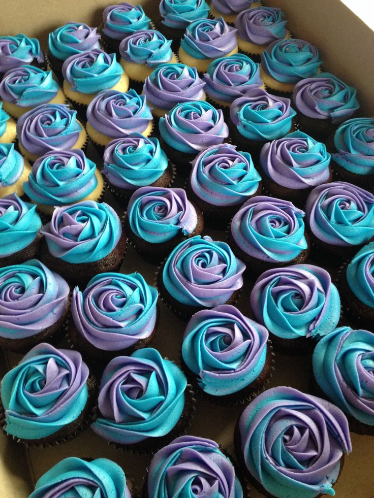 Blue and Purple Wedding Cupcakes - Cupcakes Gallery