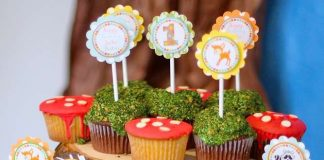 Forest Birthday Party Cupcakes