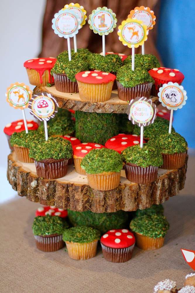 Forest Birthday Party Cupcakes Cupcakes Gallery