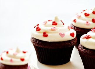 Heart Sprinkles Red Velvet Cupcakes
