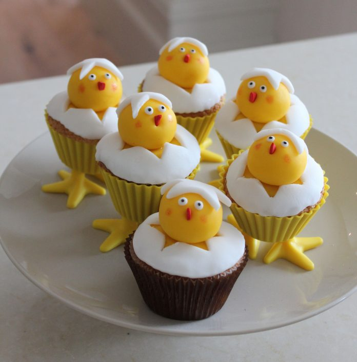 Adorable Chick Cupcake