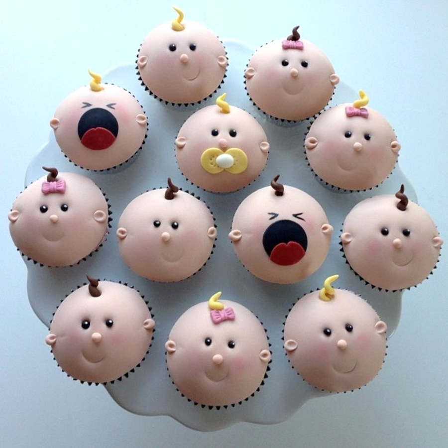 Baby cupcakes for Baby shower cupcake decoration