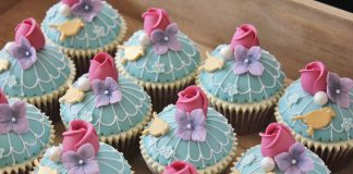 Birdcage Wedding Cupcakes