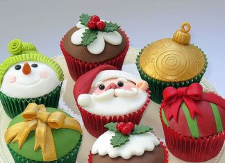 Happy Holidays Cupcakes