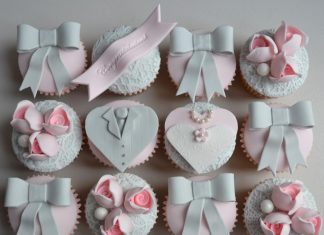 Simple Wedding Cupcakes