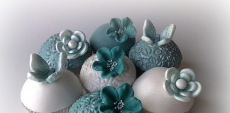 Teal Wedding Cupcakes