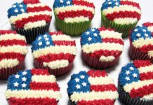 US Flag Cupcakes
