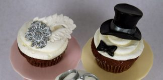 Wedding Couple Cupcakes