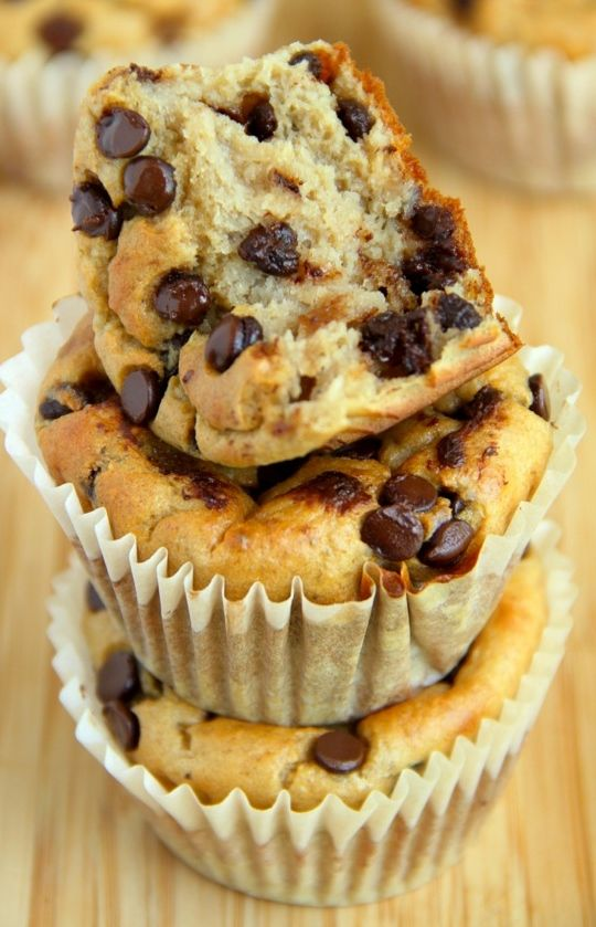 Banana Oat Chocolate Chip Cupcakes