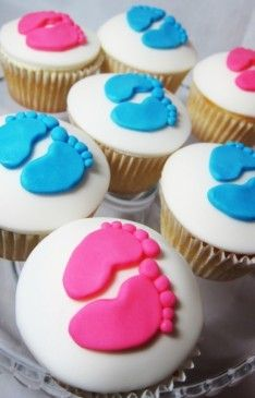 Blue And Pink Baby Shower Cupcakes Cupcakes Gallery