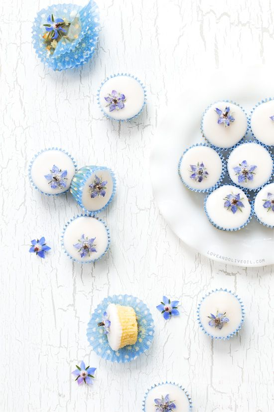Borage Flowers Cupcake