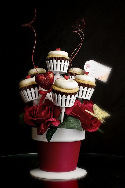 Bouquet Valentine's Day Cupcake