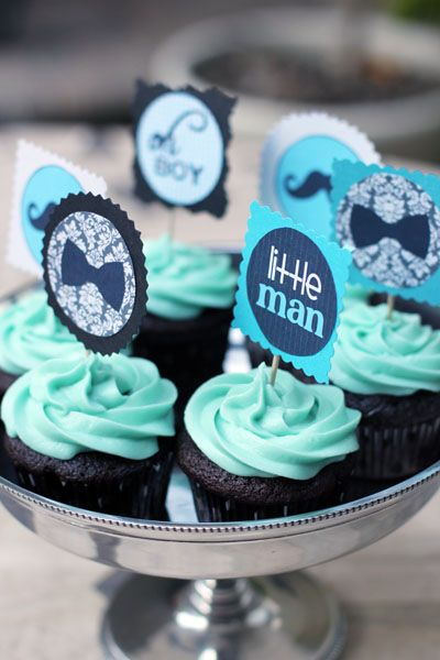 Attractive Boy Baby Shower Cupcakes