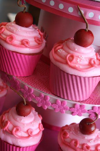 Cherry Birthday Party Cupcakes