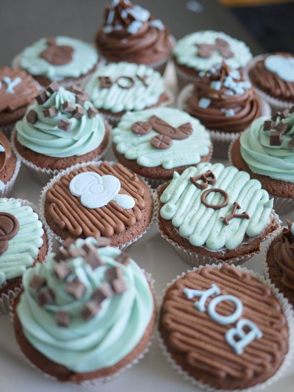 Nice Chocolate Baby Shower Cupcakes