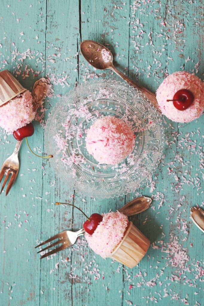Coconut Cherry Cupcakes