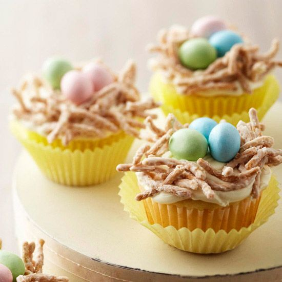 Cute Colorful Egg Cupcakes