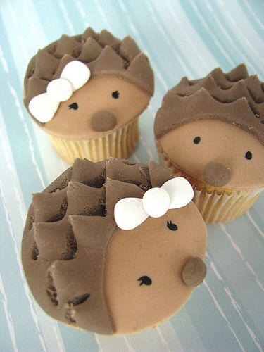 Cute Hedgehogs Cupcakes
