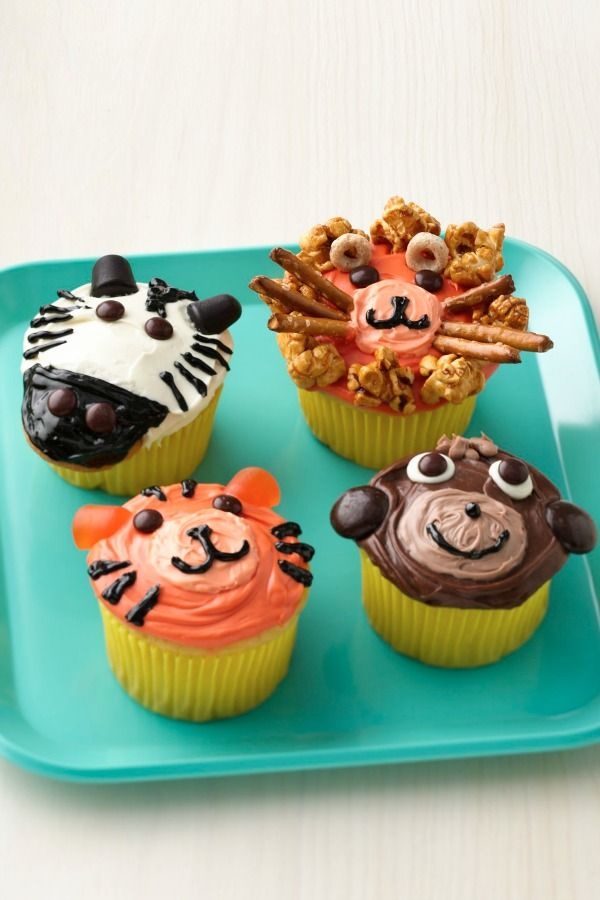 Cute Jungle Animal Cupcakes