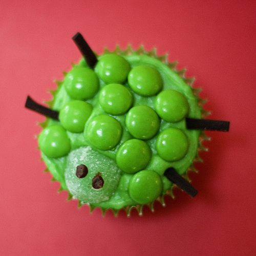 Cute Little Turtle Cupcake