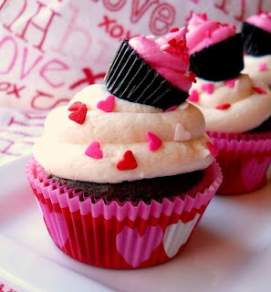 Double Heart Cupcakes