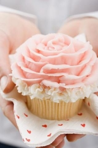 Gorgeous Pink Ruffled Cupcakes