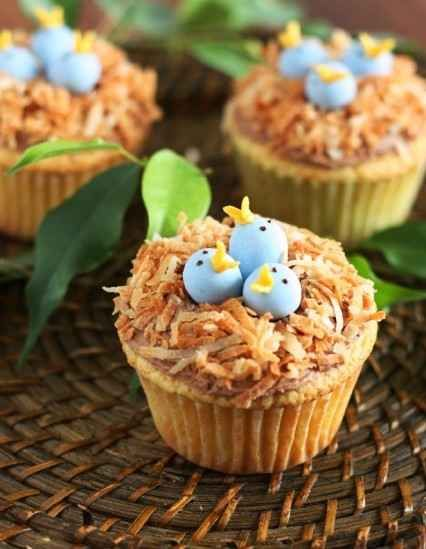 New Born Bird Cupcakes