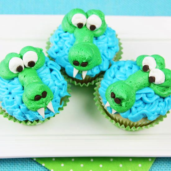 Scary Alligator Cupcakes
