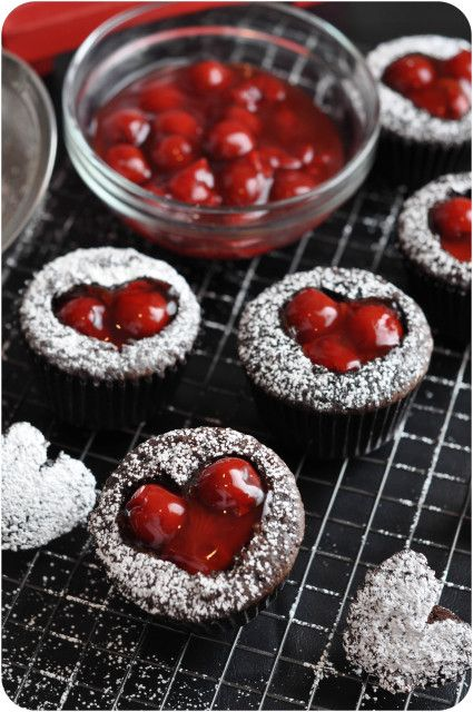 Sweet Cherry Cordial Cupcakes