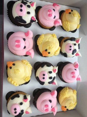Sweet Farm Animal Cupcakes
