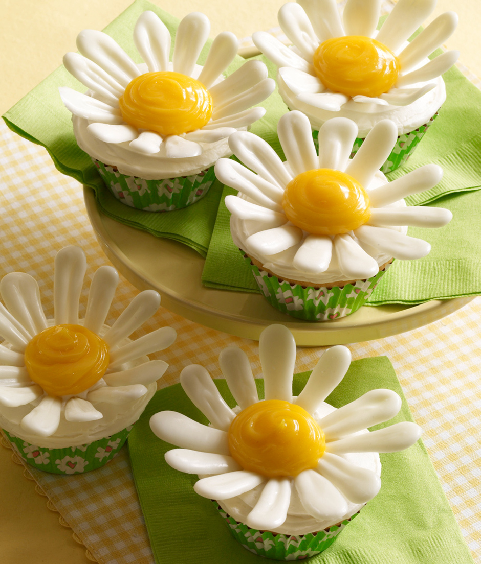 Attractive Daisy Cupcakes