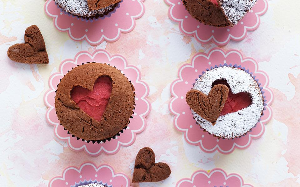 Carved Hearts Cupcakes