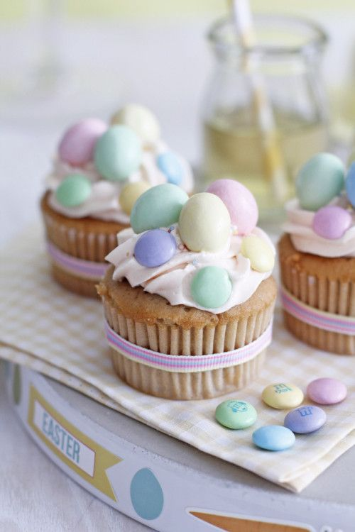 Delightful Easter Eggs Cupcakes