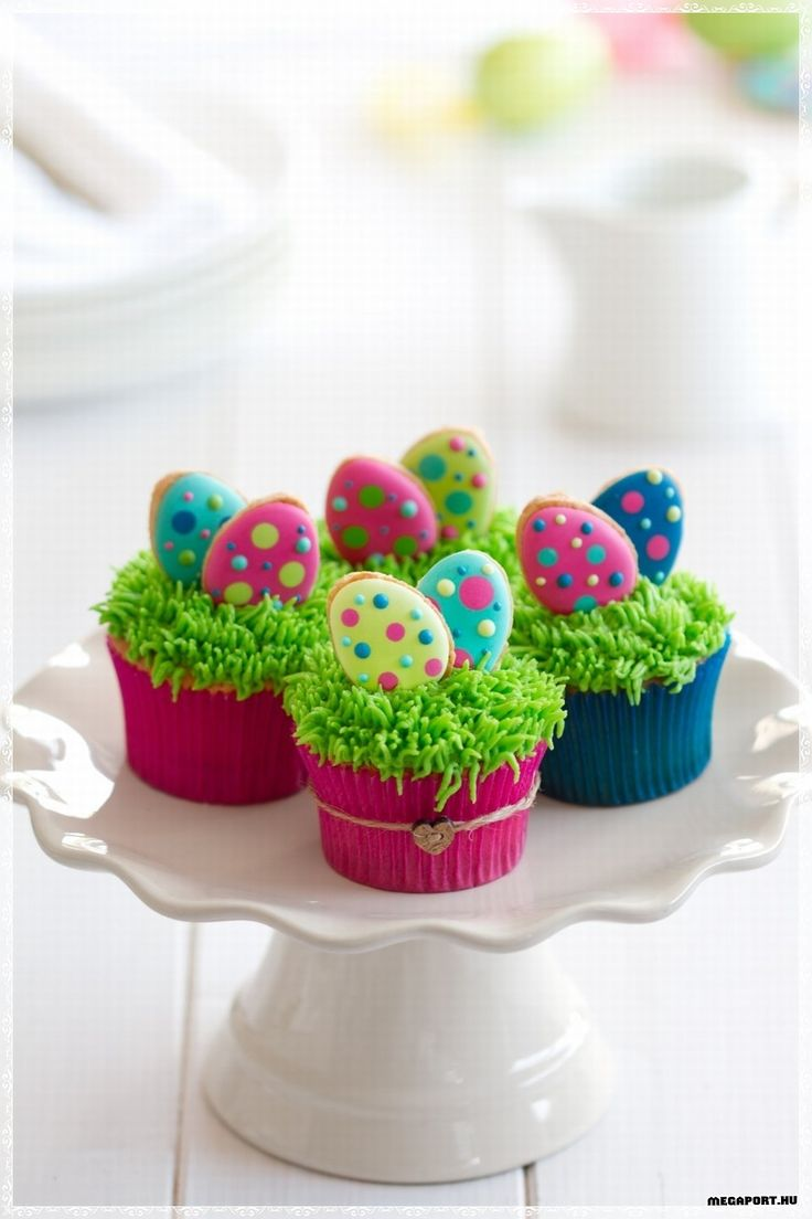 Easter Cookie Eggs Cupcakes