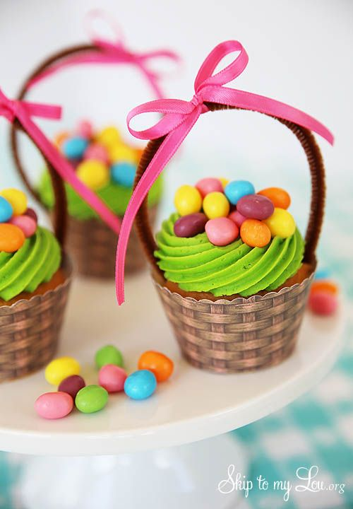 Egg Basket Cupcakes