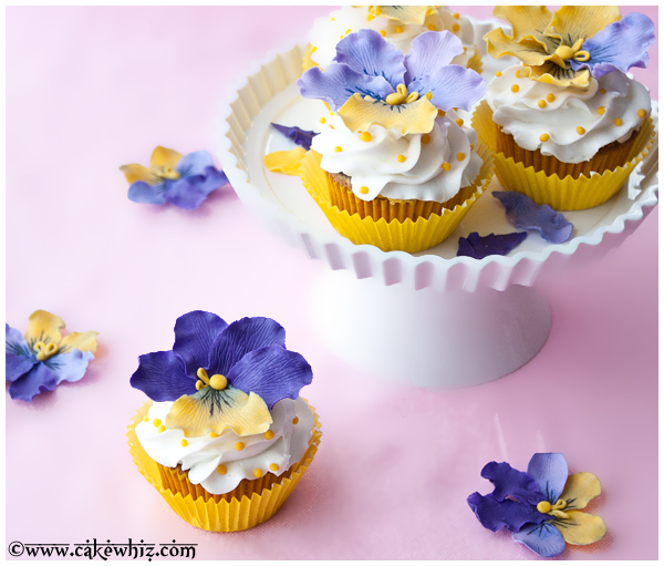 Gorgeous Pansies Cupcakes