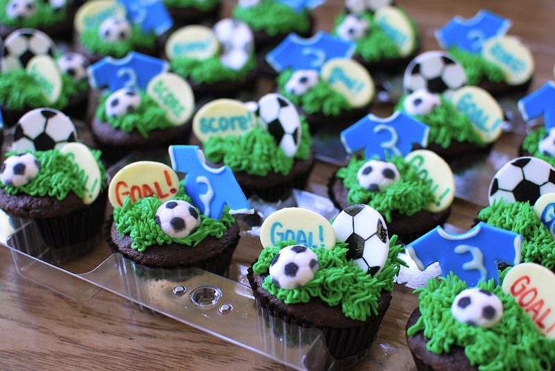 Hit The Goal Cupcakes