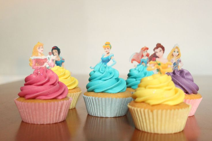 Beautiful Disney Princess Cupcakes