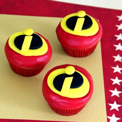 Beautiful Mr Incredible Cupcakes