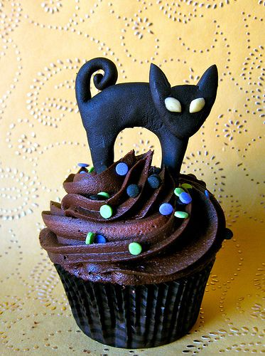 Black Cat Cupcake Topper