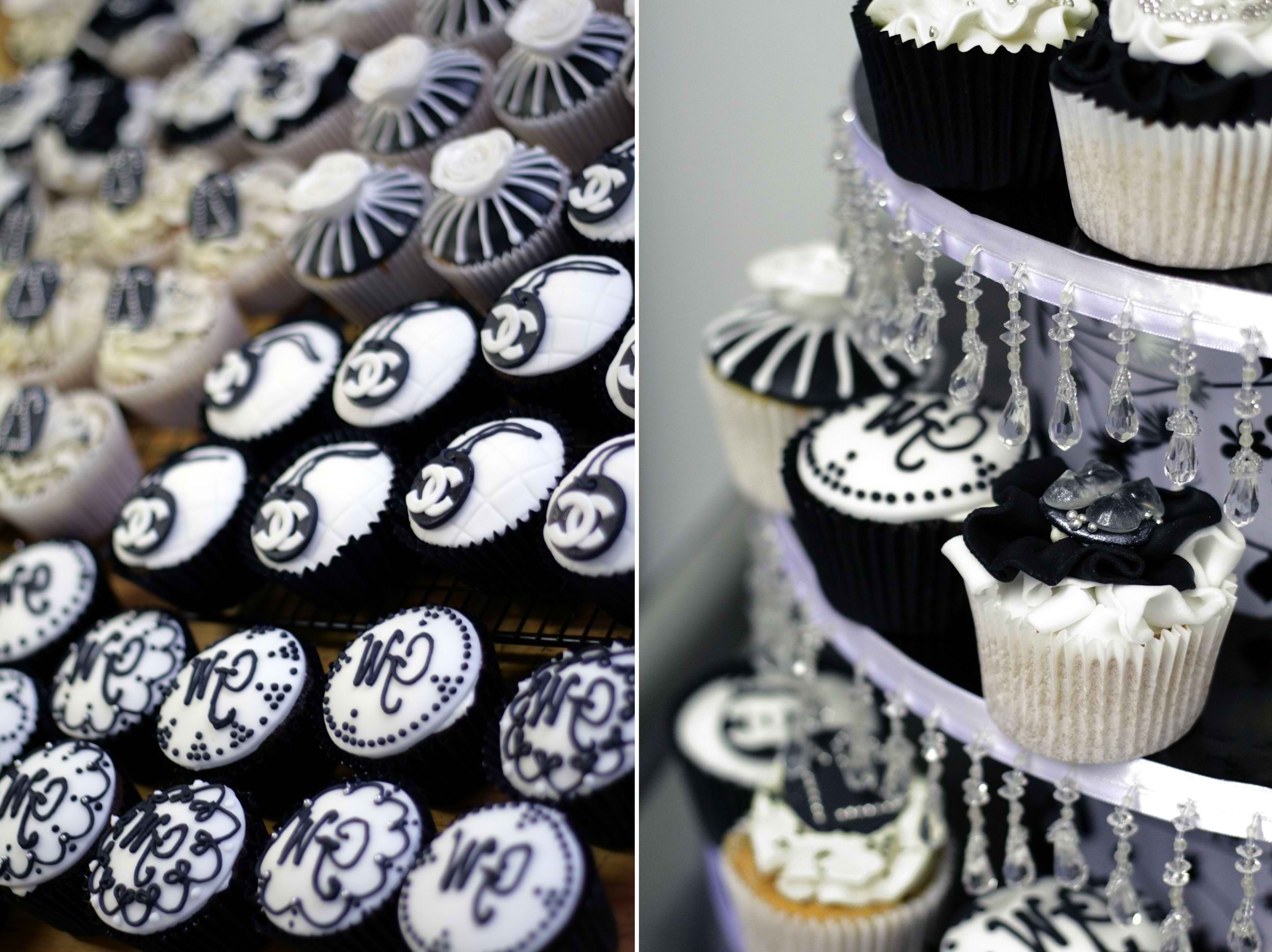 Black and White Couture Cupcakes - Cupcakes Gallery