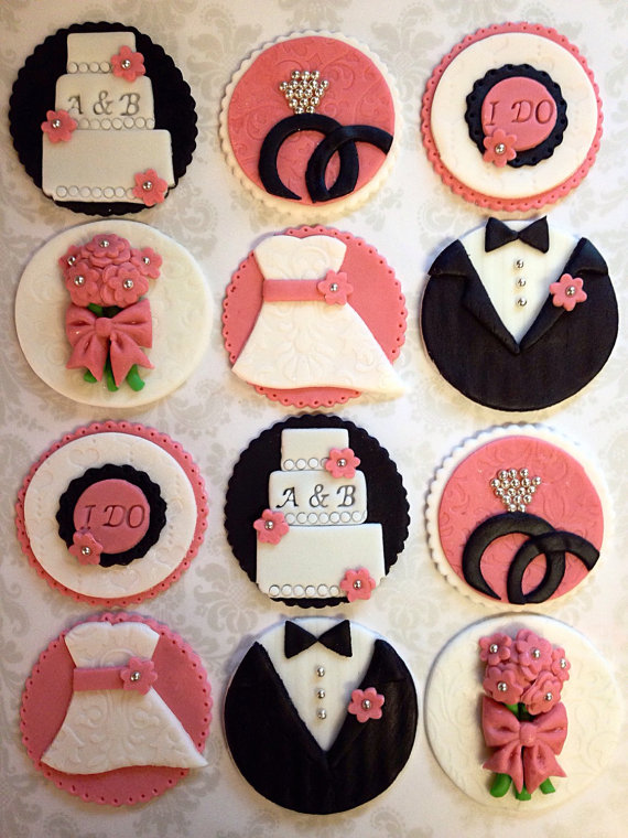 bridal shower cupcake topper