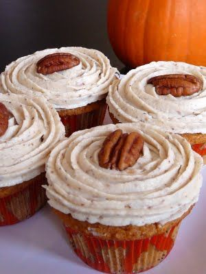 Brown Butter Pumpkin Cupcakes