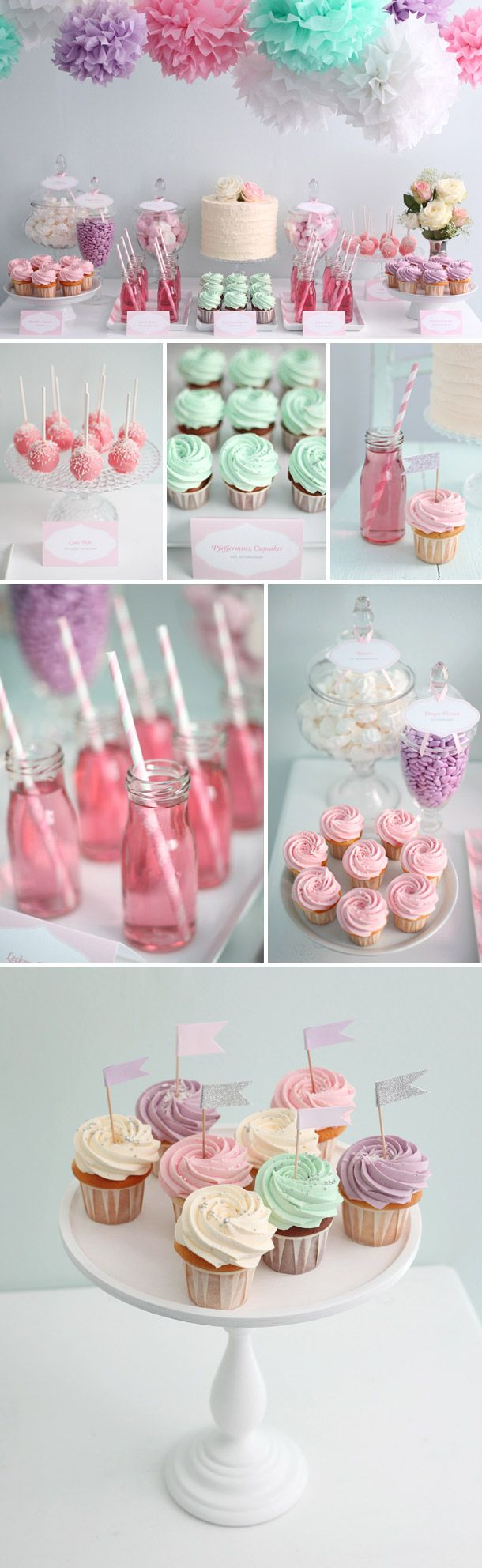 Candybar Inspired Colorful Cupcakes