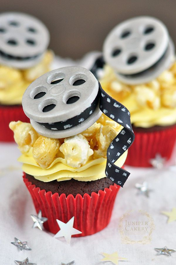 Chips Popcorn Movie Film Cupcakes