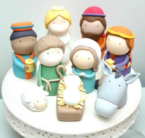 Christmas Nativity Scene Cupcakes Toppers