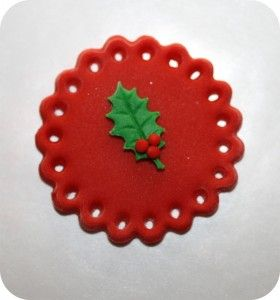 Christmas Tree Leaf Cupcake Toppers