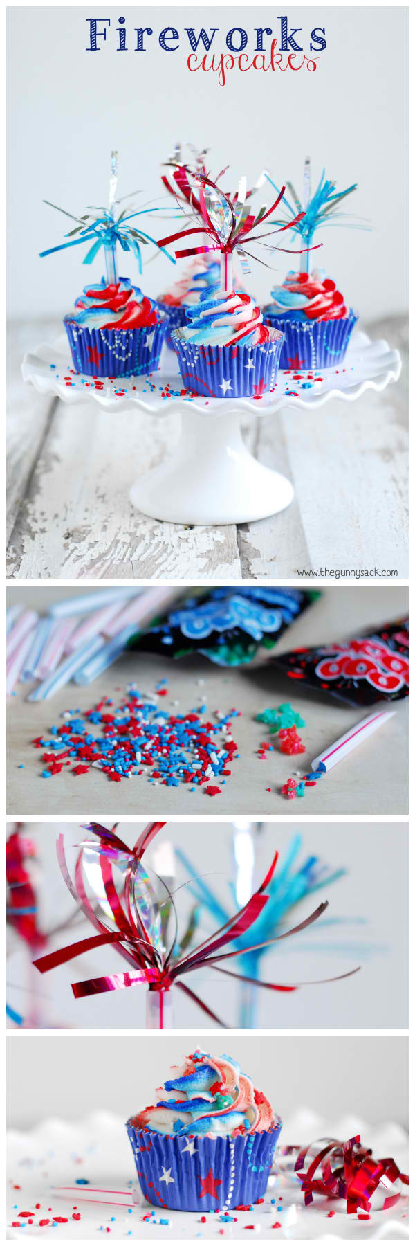Colorful Firework Cupcakes